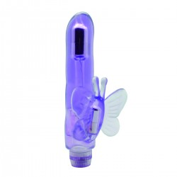 Dual Stimulator Butterfly Vibrator (Purple clear)